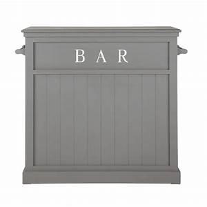 Meuble Bar Maison Du Monde : meuble de bar en bois gris l 120 cm newport maisons du monde ~ Nature-et-papiers.com Idées de Décoration