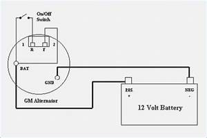 Single Wire Alternator Wiring Diagram
