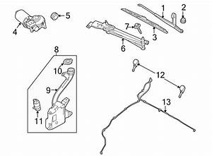 Ford Focus Windshield Wiper Motor  Make  Replace