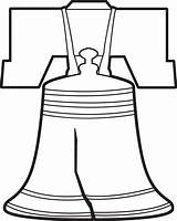 Liberty Bell Coloring Pages Bells Drawing Outline Printable Clipart Clip Sketch American Worksheets Kindergarten Pennsylvania Freedom Patriotic Craft Sheets Grade sketch template