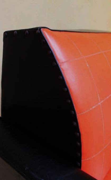 canap skai canapé skai vintage orange et noir des ées 60