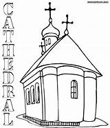 Cathedral Coloring Pages Orthodox sketch template