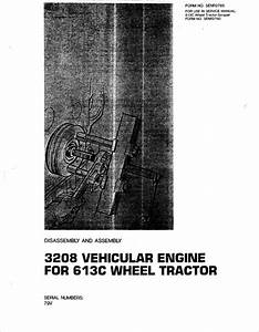 Caterpillar 3208 Engine Service Manual For 613c Wheel