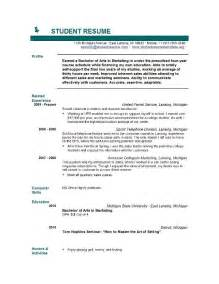 resume format free for students student resume templates student resume template
