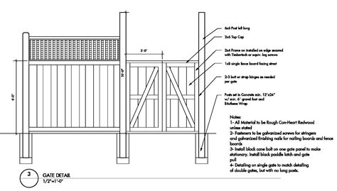 wood fence construction details plans diy