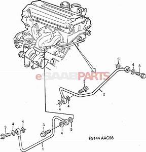 9144155 saab tube genuine saab parts from esaabpartscom With saab kes diagram