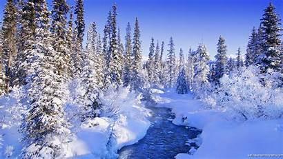 Winter Scene Mountain River