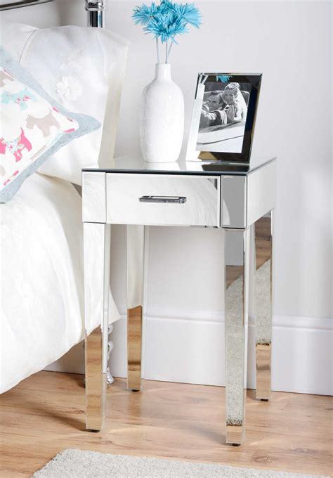 small mirrored accent table awesome small end table with drawer ideas home furniture
