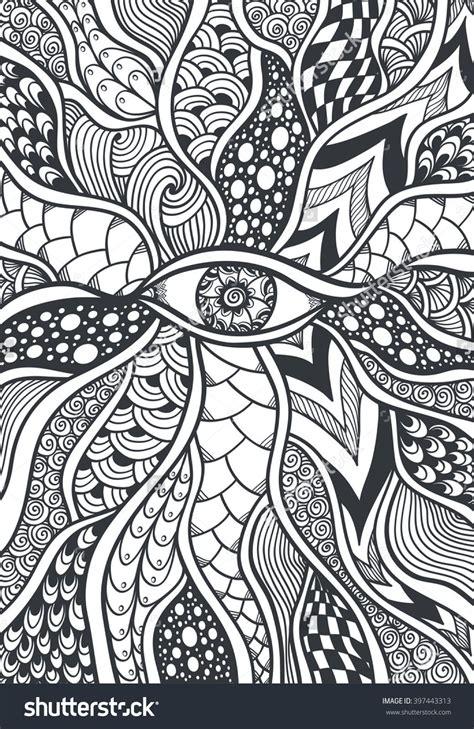 zen doodle eye coloring page  shutterstock