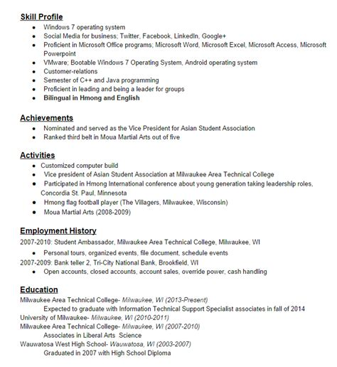 How Much History To List On Resume by How Should Work History Be On Resume How Much Work