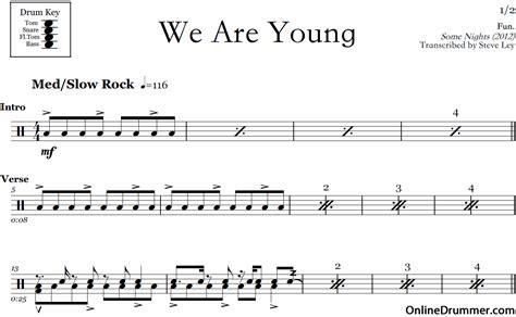 young fun drum sheet  onlinedrummercom