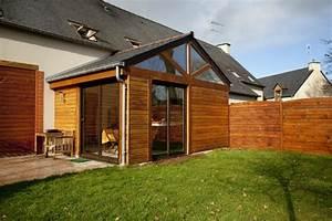 decoration extension maison veranda 91 brest With prix agrandissement maison 20m2