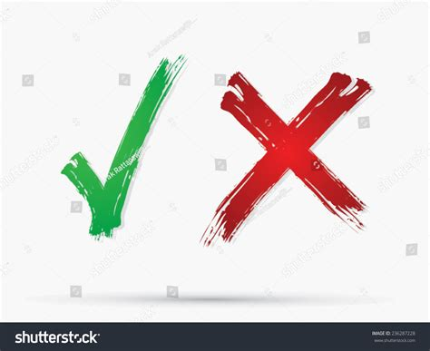 Check Mark X Yes No Icon Stock Vector 236287228