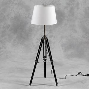 wooden tripod floor lamp with white shade and chrome With kitty tripod white wood floor lamp