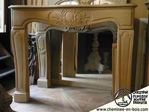 Manteau Cheminée Bois : cheminees en bois cheminees anciennes cheminees sur mesures ~ Teatrodelosmanantiales.com Idées de Décoration