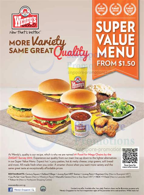wendy s from 1 50 new value menu 11 oct 2012