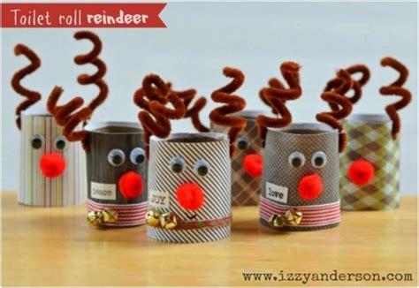 festive diy christmas crafts  toilet paper rolls
