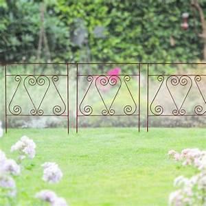 Bordure De Jardin Metal : bordure m tal acier volutes 71cm bordure de jardin ~ Dailycaller-alerts.com Idées de Décoration