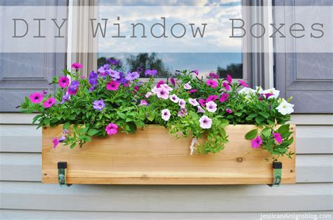 Diy Window Flower Boxes Jessicandesigns  Dma Homes #42220