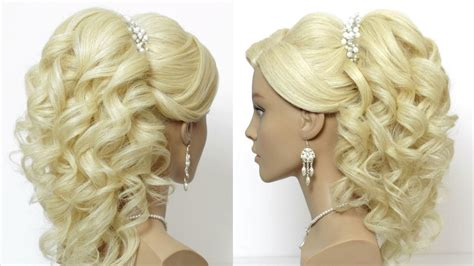 Wedding For Long Hair : Wedding Prom Hairstyle For Long Hair With Curls. Tutorial