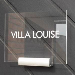 Plaque De Maison : plaque de maison personnalisable en plexiglas transparent cr ativ 39 sign ~ Teatrodelosmanantiales.com Idées de Décoration
