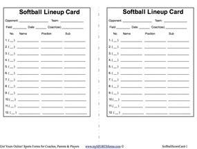 free softball lineup template youth baseball coaching mysportsforms