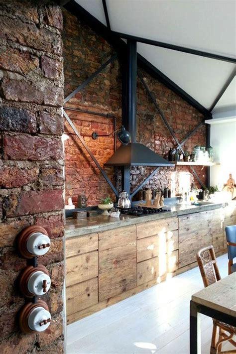 cuisine mur en 1000 idées à propos de murs intérieur de briques sur