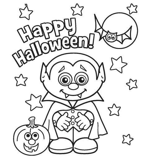 Halloween Coloring Pages 2 New Hd Template Images 1461, Bestofcoloringcom