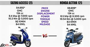 Suzuki Access 125 Vs Honda Activa 110 Review Archives