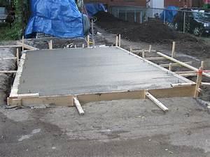 comment realiser une dalle beton blog conseil abri With faire une dalle de beton pour garage