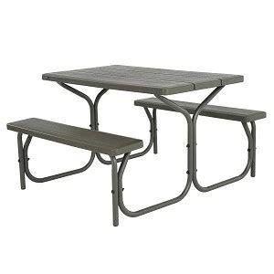 lifetime 4 ft table lifetime picnic table brown 60135 4 ft plastic top