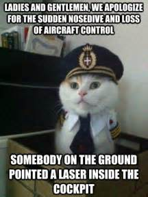 captain cats captain kitten sudden nosedive aviation humor