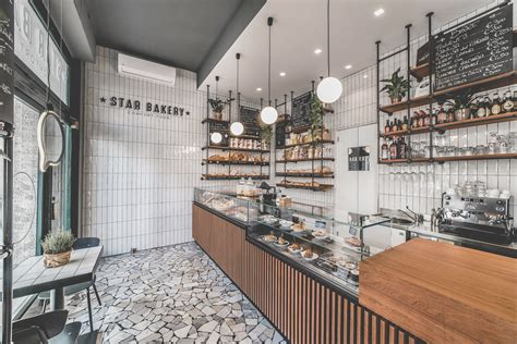 Magnificent cafã© designs and coffee shop interiors from around the world. Star Bakery - Picture gallery in 2020   Bakery design interior, Coffee shops interior, Cafe ...