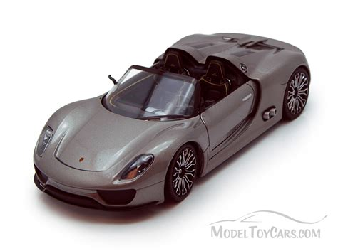 porsche model car porsche 918 spyder convertible gray welly 24031 1 24