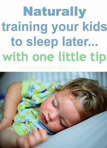 teaching your kids to sleep in later