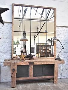 Miroir Effet Verrière : pour une ambiance industrielle un effet verri re d 39 atelier sur un grand miroir d co diy ~ Teatrodelosmanantiales.com Idées de Décoration