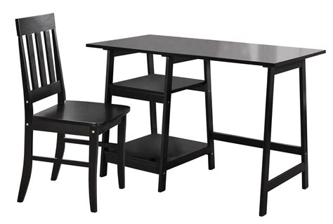 Black Writing Desk And Chair by Homelegance Daily Writing Desk And Chair Black 4694bk 15