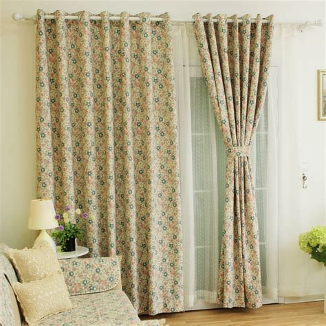 Country Style Drapes - decorative floral printed polyester country style curtain