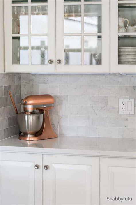 Marble Tile Kitchen Backsplash by Carrara Marble Tile Backsplash Kitchen Reveal