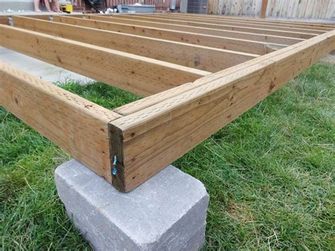 Building A Ground Level Floating Deck