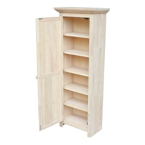 unfinished maple cabinets international concepts solid parawood storage cabinet in