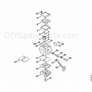 Stihl 028 Chainsaw  028wb  Parts Diagram  Carburetor Wt16b