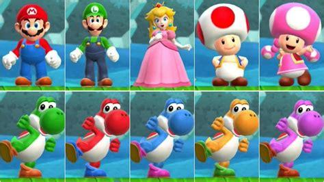 Super Mario Run All Characters Youtube