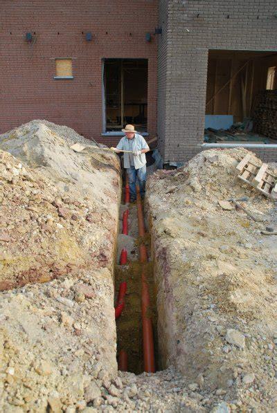 tranch 233 e pour raccordement eau elec t 233 l notre maison en bois