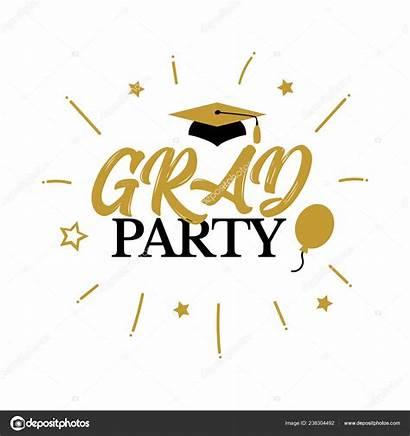 Graduation Congrats Class Graduates Congratulation Party Vector
