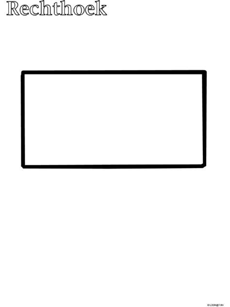 Vierkant Kleurplaat by Kleurplaat Peuter Kleurplaat Rechthoek Kleurplaten Nl
