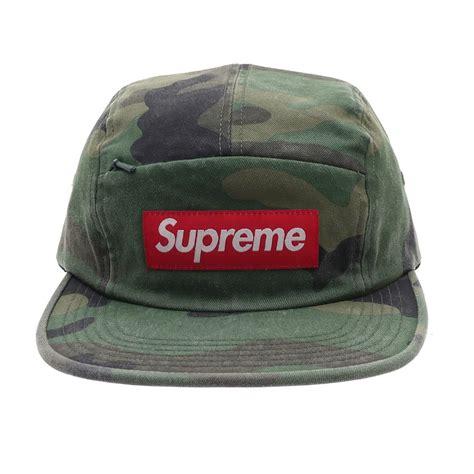 supreme cap supreme front panel zip c cap woodland camo millioncart