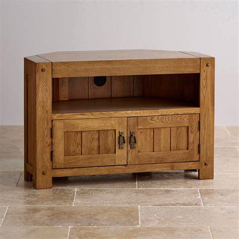 wooden corner tv cabinet quercus corner tv cabinet in rustic oak oak furniture land