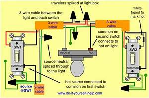3 Way Wiring Diagram  Light Center