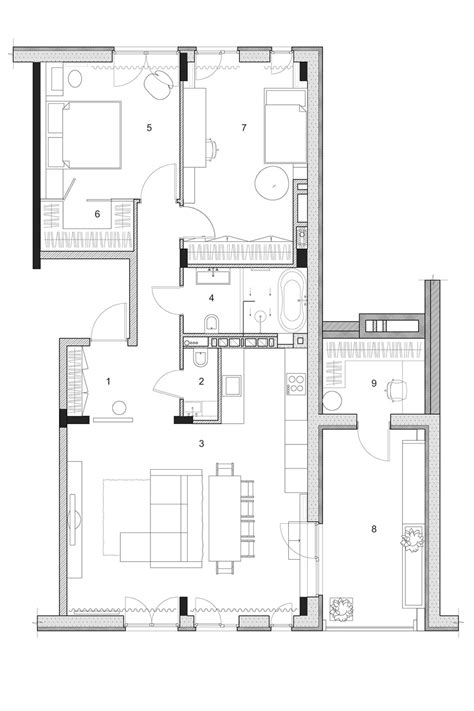 design floor plan two modern homes with rooms for small children with floor